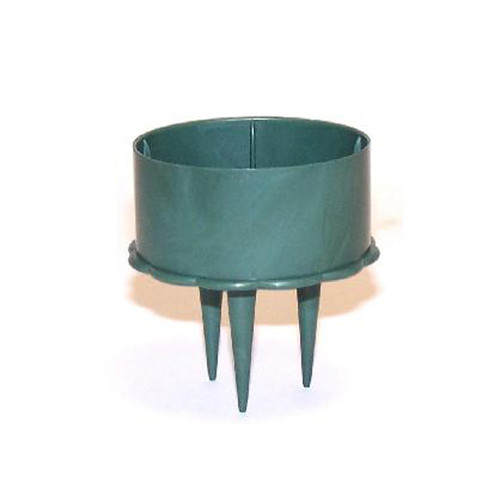 Pack of 10 x 5cm Green Plastic Candle Holders Fireproof