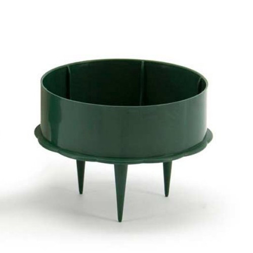 Pack of 10 x 7.5cm Green Plastic Candle Holders