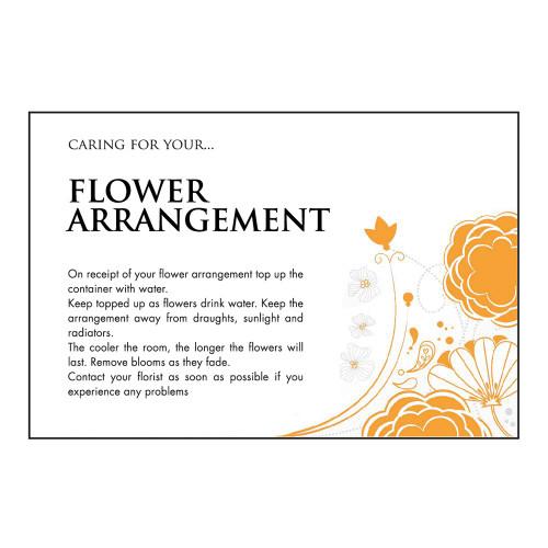 Care Card Flower Arrangement x100