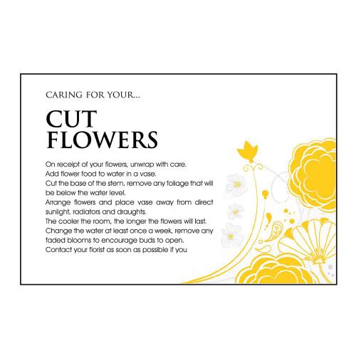Care Card Flower Cut Flowers x100