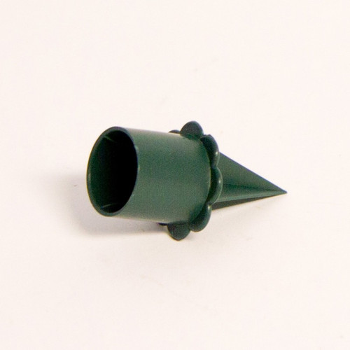 Pack of 25 x 2.5cm Green Plastic Candle Holders