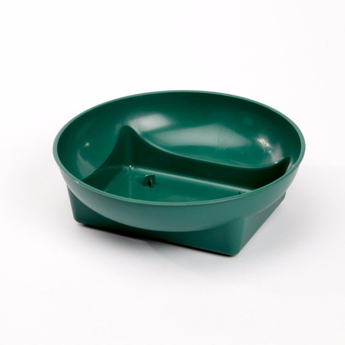 Plastic Square Round Bowl Green 16 x 4cm Pack of 25