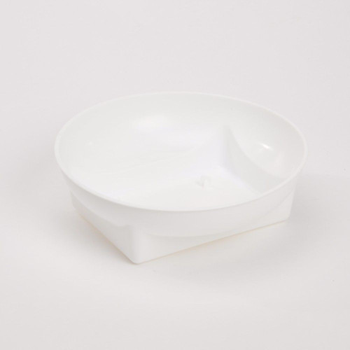 Plastic Square Round Bowl White 16 x 4cm Pack of 25