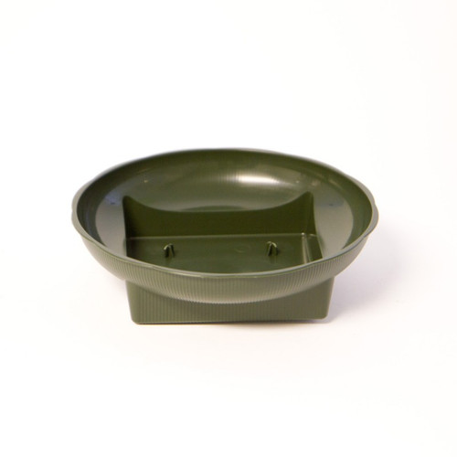 Plastic Square Round Bowl Green Large 18 x 5cm Pack of 10