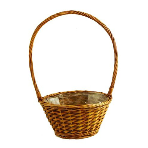 Round Stained High-Handled Basket 35cm