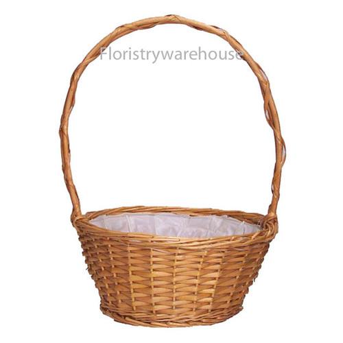 Round Willow Basket 25cm