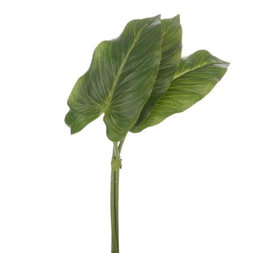 Anthurium Artificial Leaf Bundle 33cm x 6 Stems