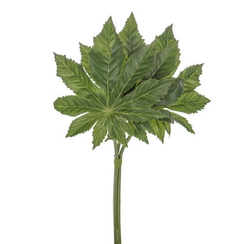 Aralia Artificial Leaf Bundle 33cm x 6 Stems