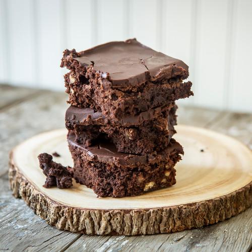 Chocolate Ganache Fudge Pecan Brownie