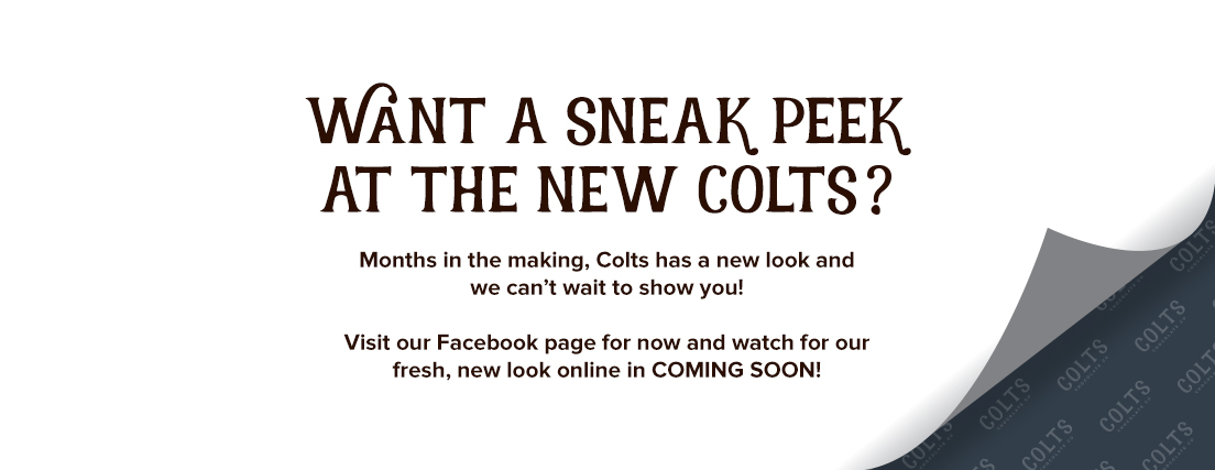 Visit our Facebook page to get a peek at the new Colts