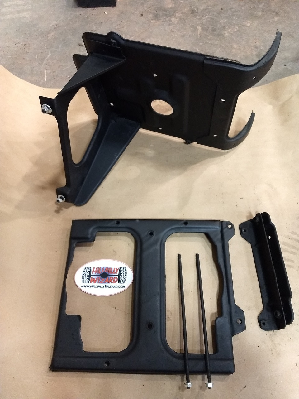 CUCV Front battery tray set