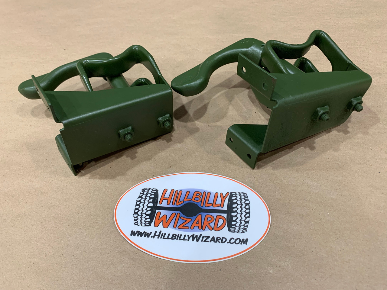 M1008 Upper Rifle Mounts, Painted 383 Green