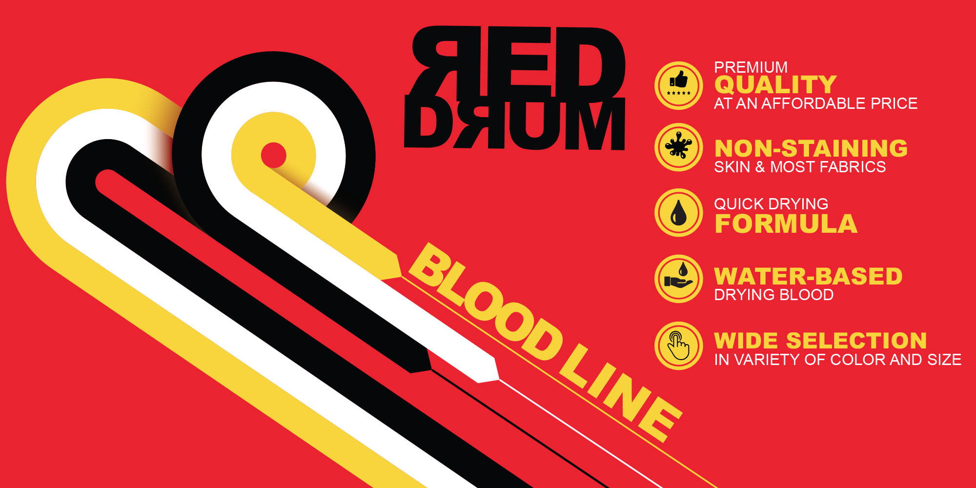 Red Drum Theatrical Blood complete line