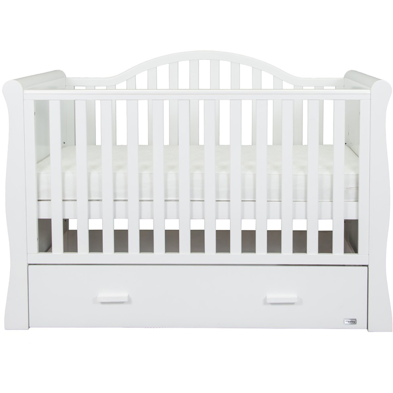 - BR Baby Oslo Sleigh Cotbed - White