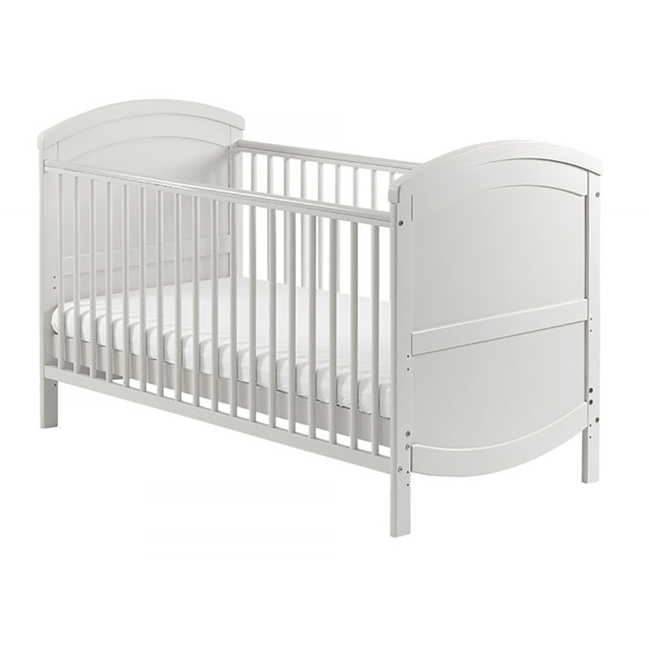 Baby Elegance Crib//Cradle Fitted Sheet Pack of 2, White