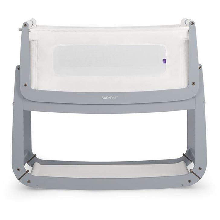 SnuzPod3 Bedside Crib Including Mattress - Dove Grey
