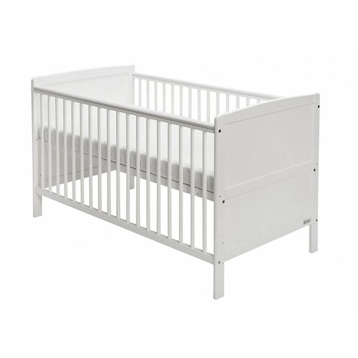 Baby Elegance Travis Cot Bed - White