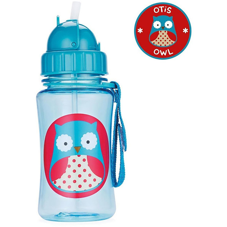 Skip*Hop Zoo Straw Bottles -Owl
