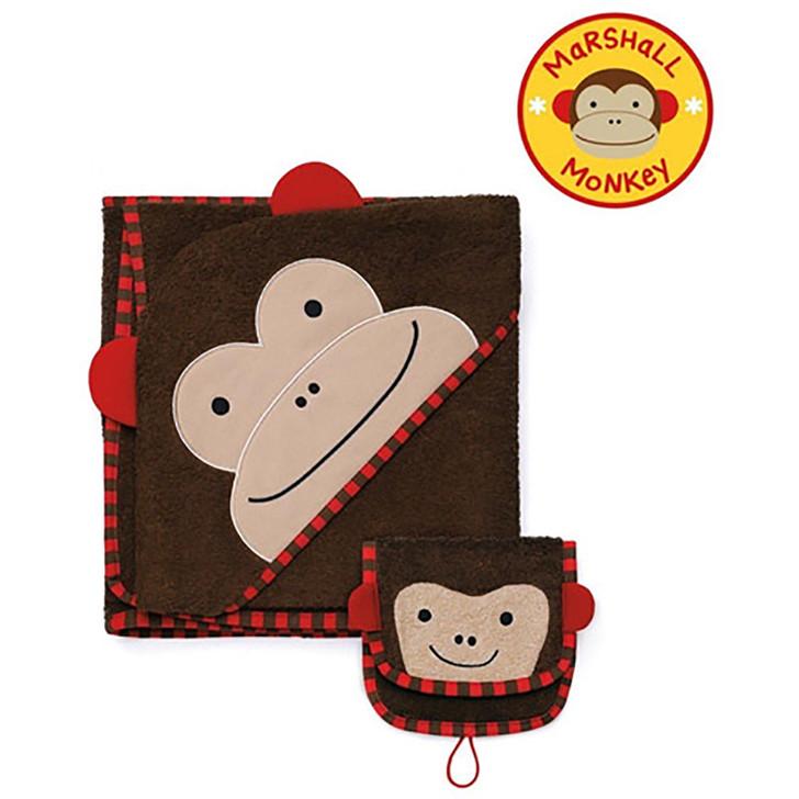 Skip*Hop Zoo Hooded Towel & Mitt Set - Monkey