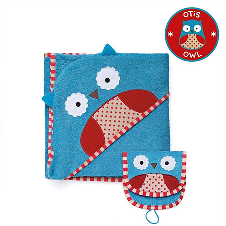 Skip*Hop Zoo Hooded Towel & Mitt Set - Owl