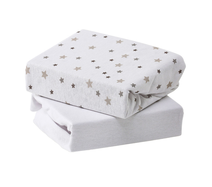 Baby Elegance Jersey Fitted Sheets -  Grey Star