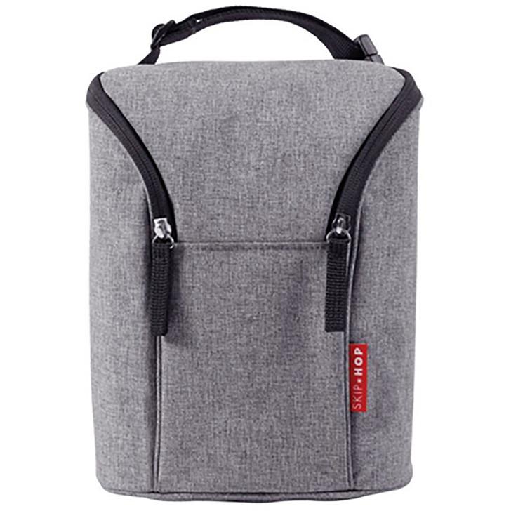 Skip*Hop Grab & Go Double Bottle Bag - Grey