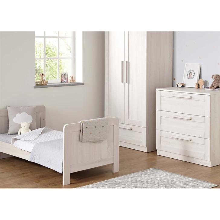 Mamas & Papas Atlas Cotbed,Dresser Package & Wardrobe - Nimbus White