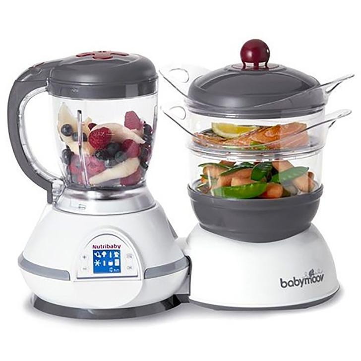 Babymoov Nutribaby Food Processor- Grey & Cherry