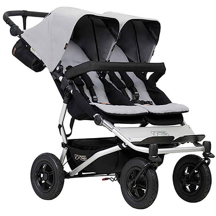 Mountain Buggy Duet Silver - FREE Juno Carrier