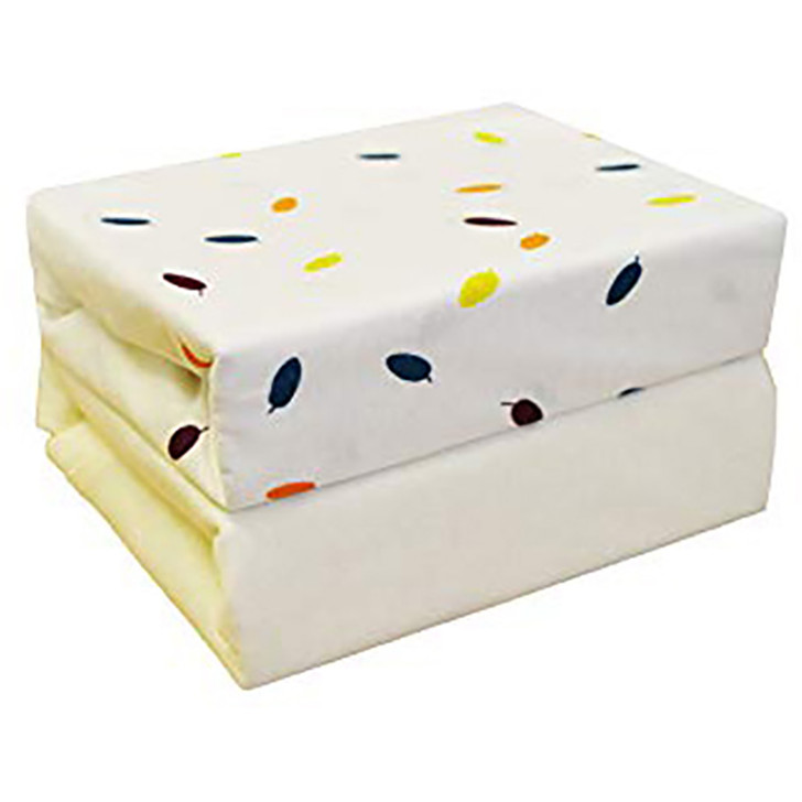 Cuddles Collection- Two Pack Jersey Fitted Sheets - Cream Leaves