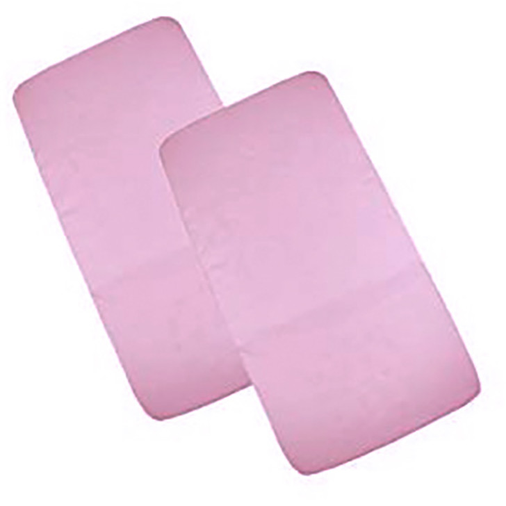 Cuddles Collection- Two Pack Crib Jersey Fitted Sheets - Pick a colour