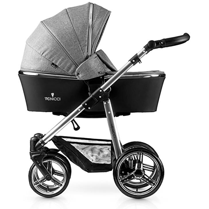 Venicci Special Edition Silver 3 in 1 Travel System- Denim Grey