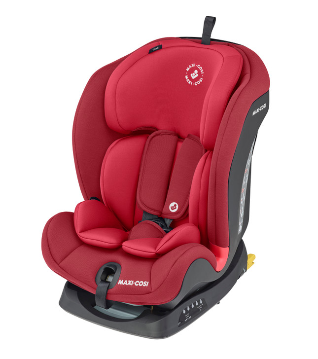 Maxi Cosi Titan isofix Car Seat - suitable from 9 months to 4 years - Eurobaby Online - Red