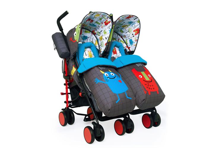 Cosatto Supa Dupa Twin Stroller - Monster Mob