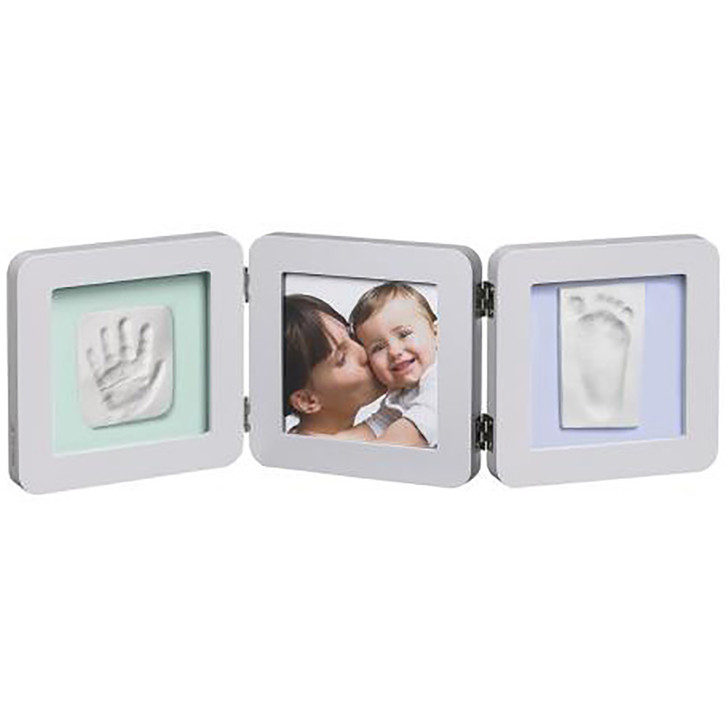 My Baby Touch Rounded Double Print Frame- Pastel