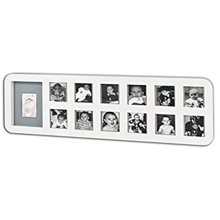 Baby Art My 1st Year Print Frame - White/Grey