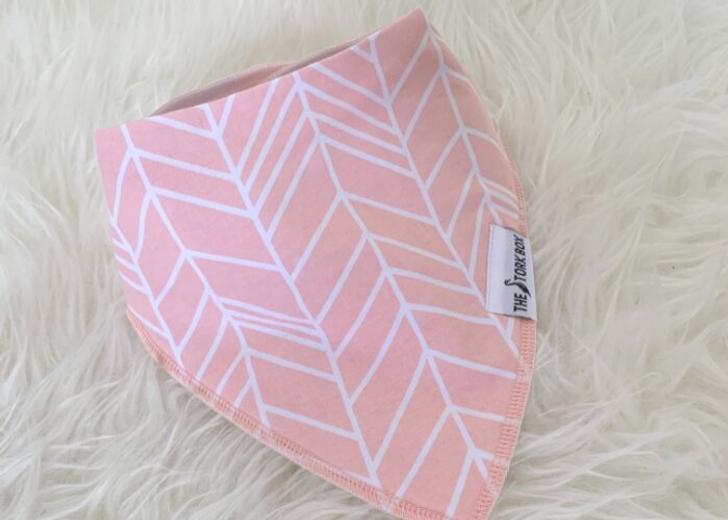 The Stork Box Dribble Bib - Pink Stripe