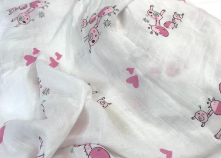 The Stork Box Swaddle Muslin Blanket - Pink