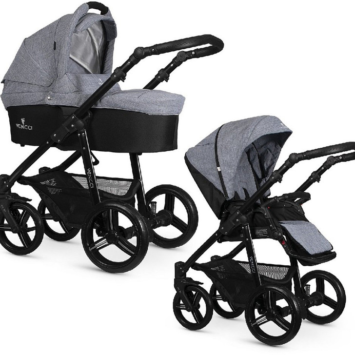 Venicci Soft Edition 3-in-1 Travel System - Mid Grey