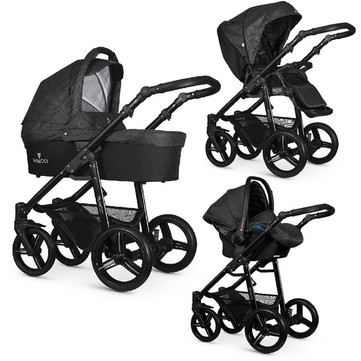 Venicci Soft Edition 3-in-1 Travel System - Denim black