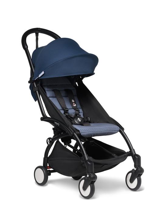 Babyzen Yoyo 2 Stroller - Black Frame - Airfrance blue