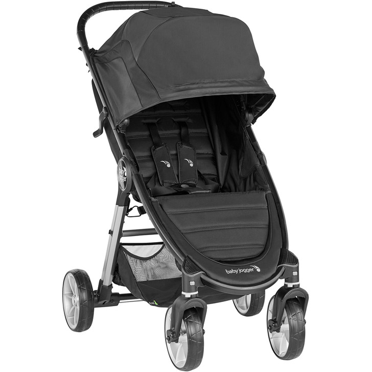 City Mini 2 - 4 Wheel Single Single Stroller - Jet
