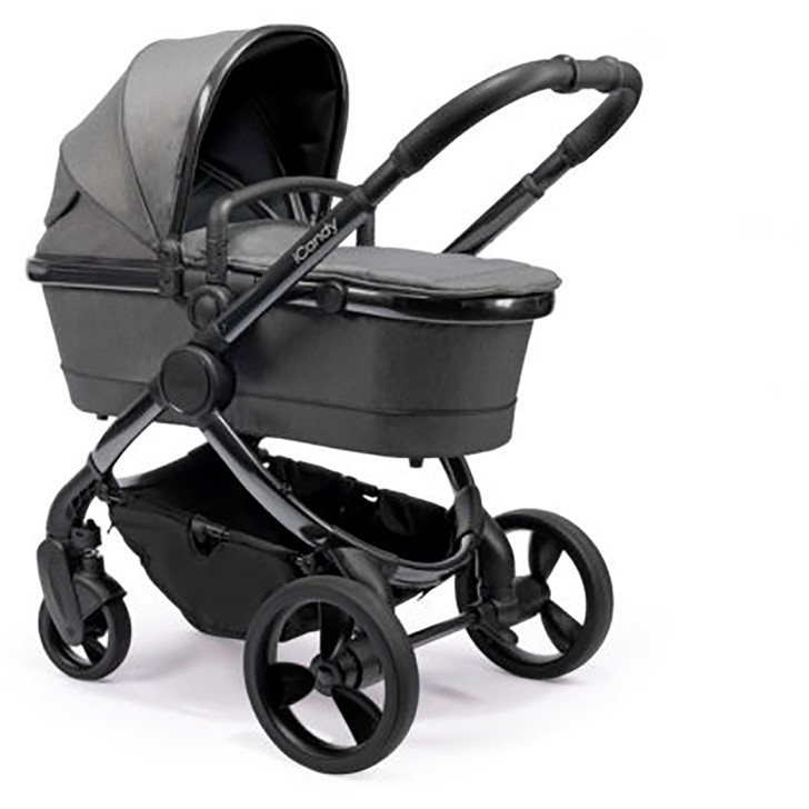 iCandy Peach Pushchair & Carrycot - Phantom Grey Twill