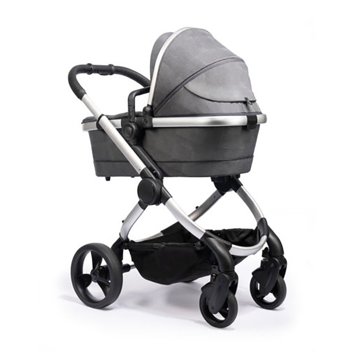 iCandy Peach Pushchair & Carrycot - Satin Dark Grey Check
