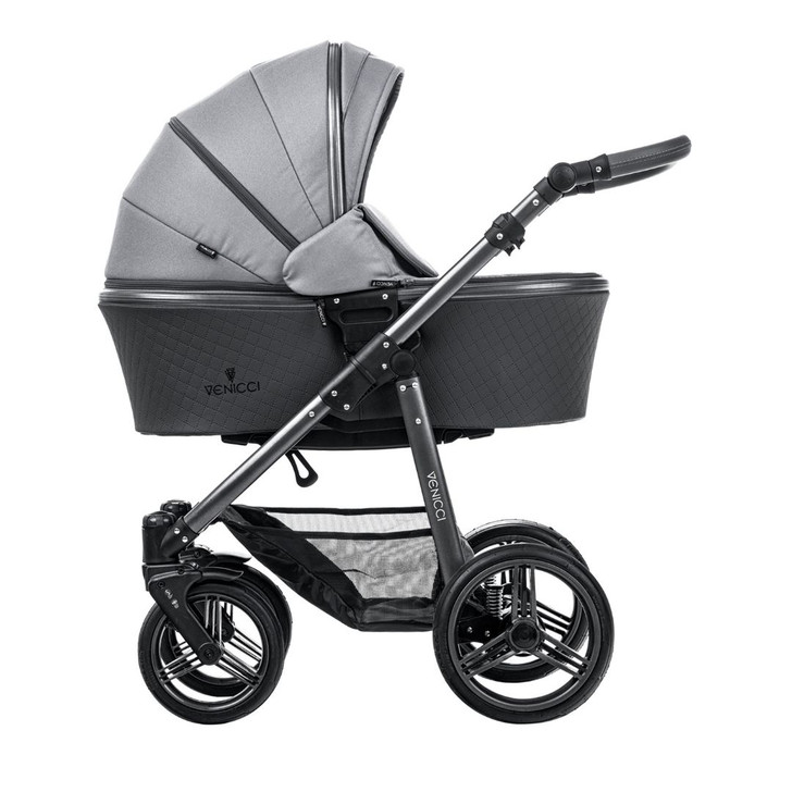 Venicci pram - natural grey. Comes in complete 3in1 travel system package - Eurobaby