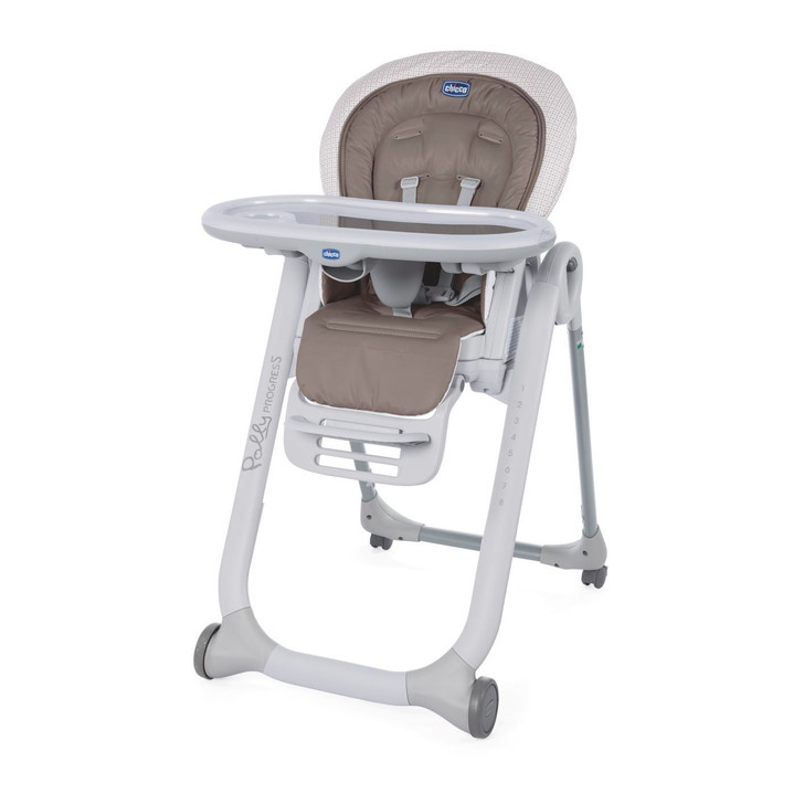 Chicco Polly Progress 4 Wheel Highchair - Pois