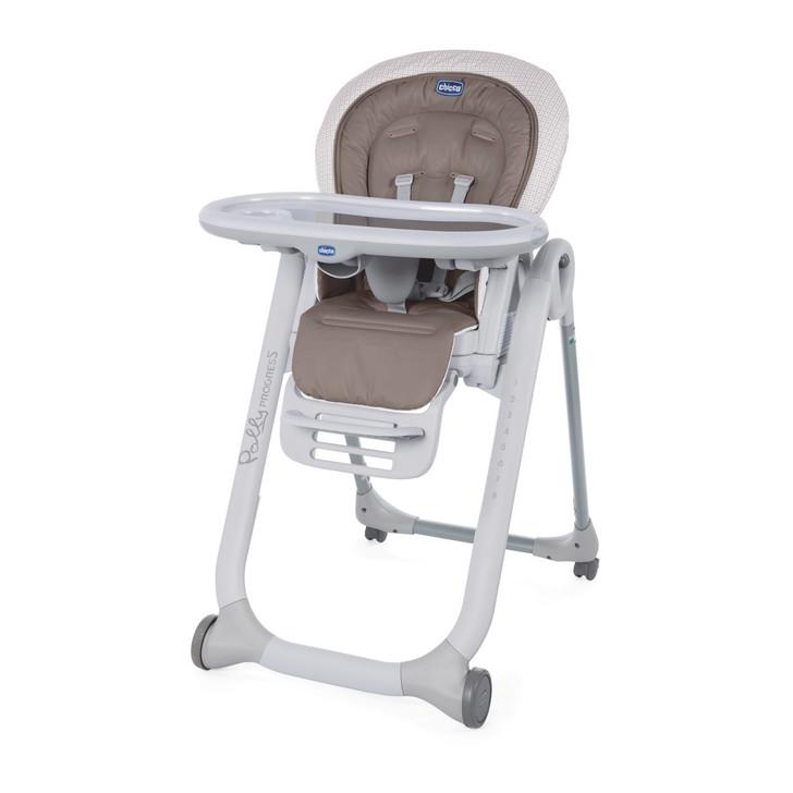 Chicco Polly Progress 4 Wheel Highchair - Pois
