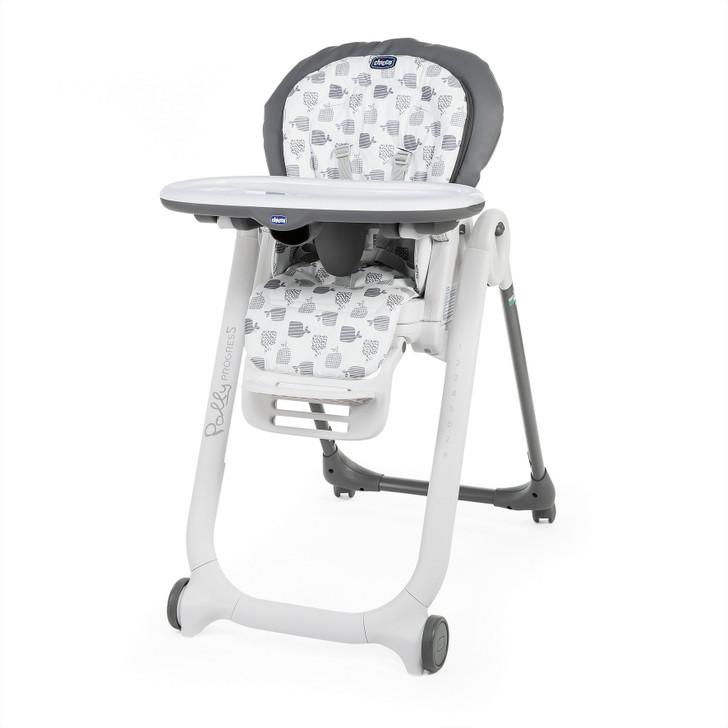 Chicco Polly Progress 4 Wheel Highchair - Grey