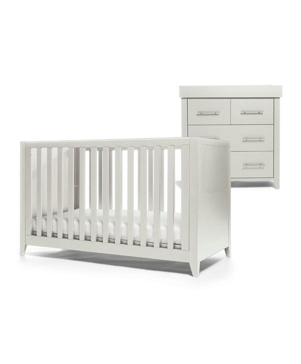 Mamas & Papas Melfi 2 Piece Cotbed Set with Dresser - Grey