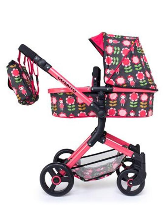 Cosatto Wonder Dolls Pram & Car Seat - Fairy Garden